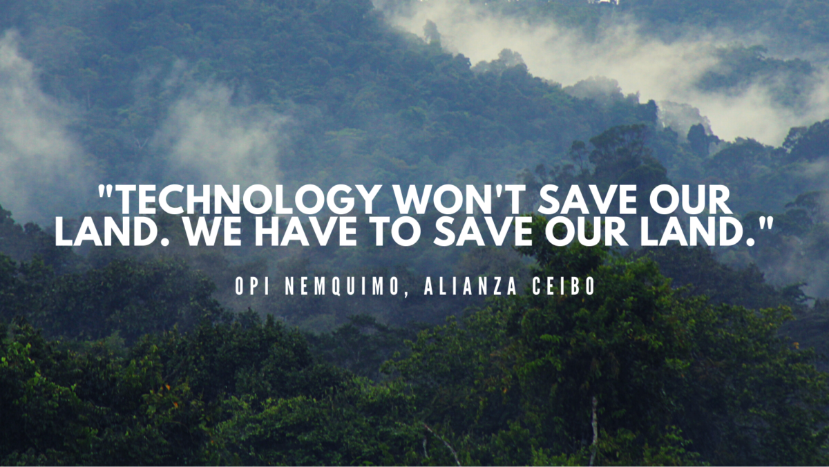 Technology won't save our lands, we have to save our lands
